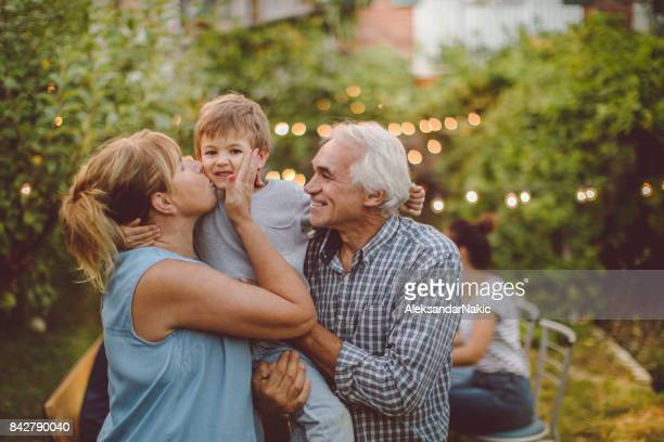 thanksgiving with grandparents - party social event stock pictures, royalty-free photos & images