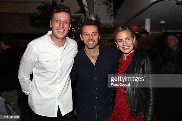Thankyou cofounder Daniel Flynn Ido Drent and Matilda Rice at the New Zealand launch of Thankyou at Everybody's on June 14 2018 in Auckland New...