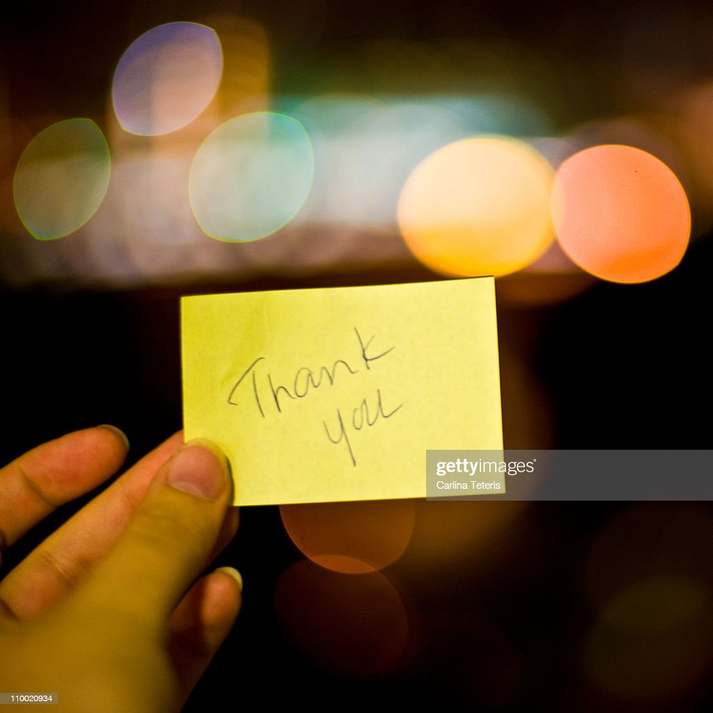 Thank-you note : Stock Photo