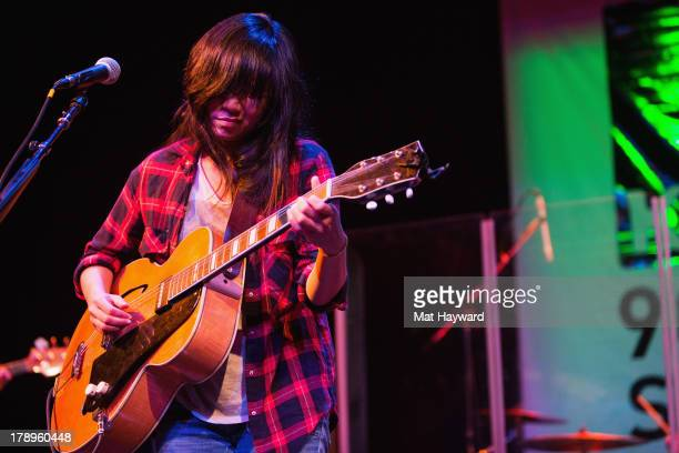 Thao Nguyen of Thao and the Get Down Stay Down performs during the Bumbershoot Music Festival at Seattle Center on August 31 2013 in Seattle...