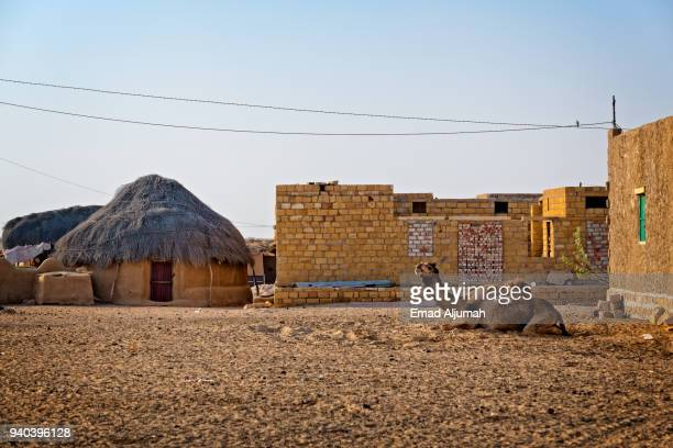 thar desert, rajasthan, india - village stock pictures, royalty-free photos & images