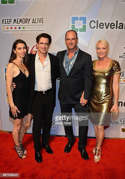 Tharita Catulle actors Dermot Mulroney and Christopher Meloni and Sherman Meloni attend the 18th annual Keep Memory Alive Power of Love Gala benefit...