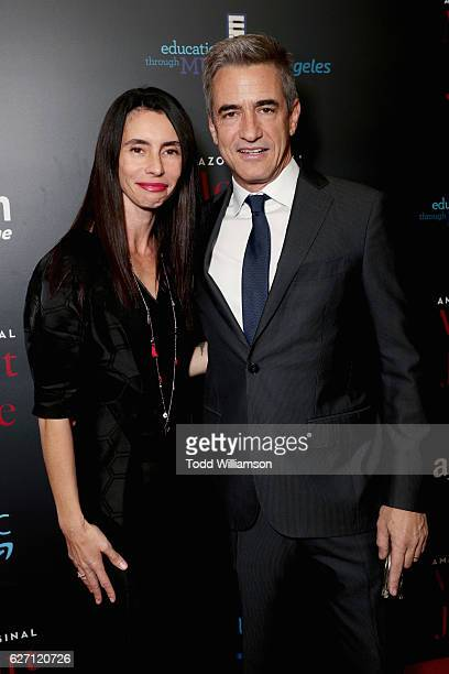 Tharita Catulle and actor Dermot Mulroney attend the Mozart In the Jungle red Carpet premiere and concert held at The Grove on December 1 2016 in Los...