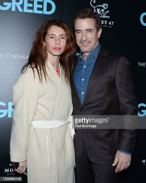 "Tharita Cesaroni and Dermot Mulroney attend The Cinema Society & Monkey 47 Host A Special Screening Of Sony Pictures Classics' ""Greed"" at Cinepolis..."