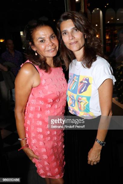 Tharita de Oliveira and Charlotte Deffe attend the Tan Giudicelli Exhibition of drawings and accessories preview at Galerie Pierre Passebon on June...
