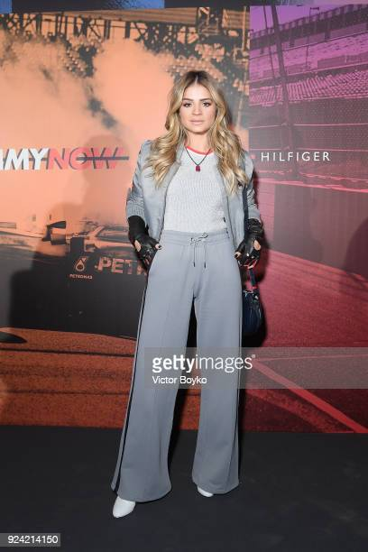 Thassia Naves attends the Tommy Hilfiger Drive Now show during Milan Fashion Week Fall/Winter 2018/19 on February 25 2018 in Milan Italy