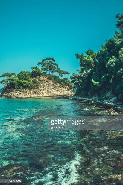 thassos island, greece - thasos stock photos and pictures