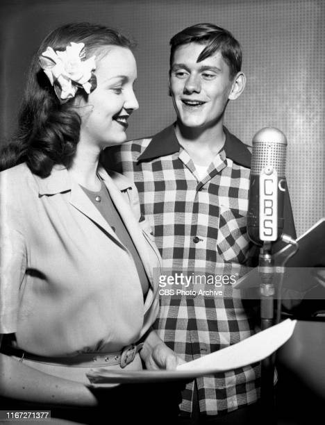 That Brewster Boy a CBS Radio situation comedy Left to right Jane Webb and Dick York July 1 1944