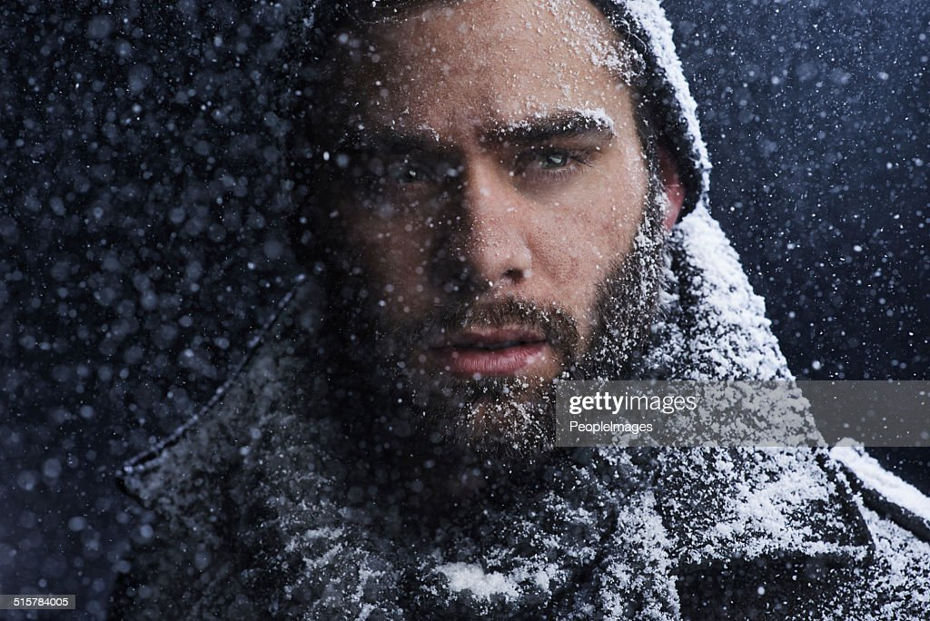 That cold stare could melt any heart : Stock Photo