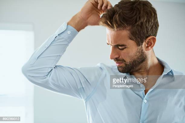 that doesn't smell good - male armpits stock pictures, royalty-free photos & images