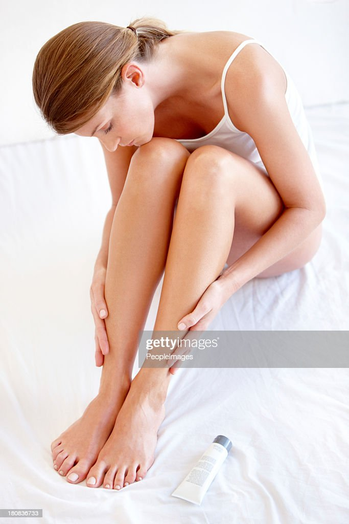 That feeling you get when you've just shaved your legs : Stock Photo