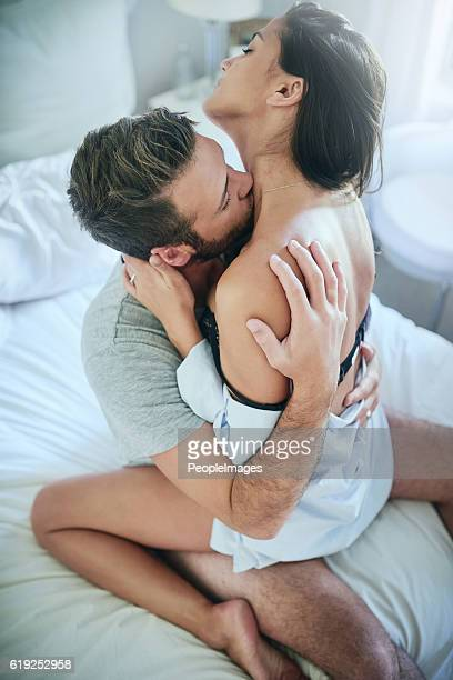 that feels amazing! - heterosexual couple photos stock photos and pictures