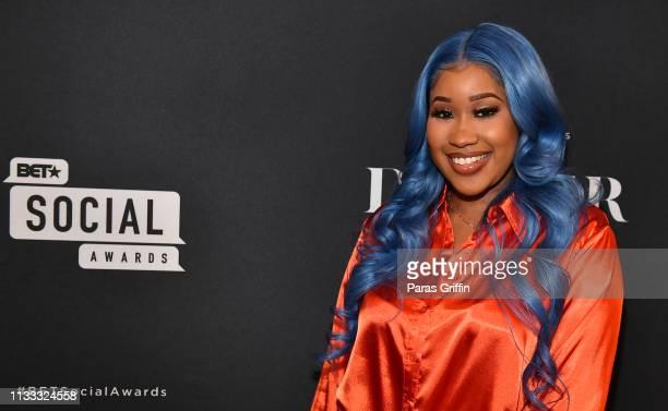 That Girl Jay attends 2018 BET Social Awards Dinner at TWELVE Atlantic Station on March 02 2019 in Atlanta Georgia