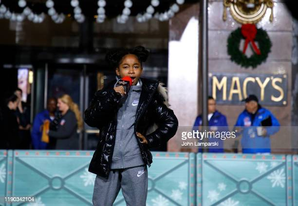 That Girl Lay Lay and Boss Kids perform during the 93rd Annual Macy's Thanksgiving Day Parade rehearsals at Macy's Herald Square on November 26 2019...