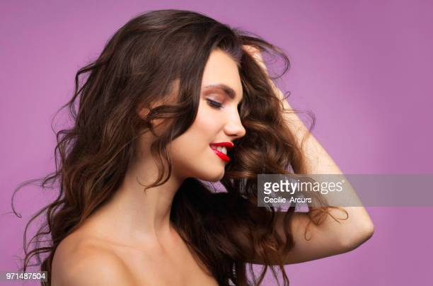 that just washed hair, no better feeling - good condition stock pictures, royalty-free photos & images