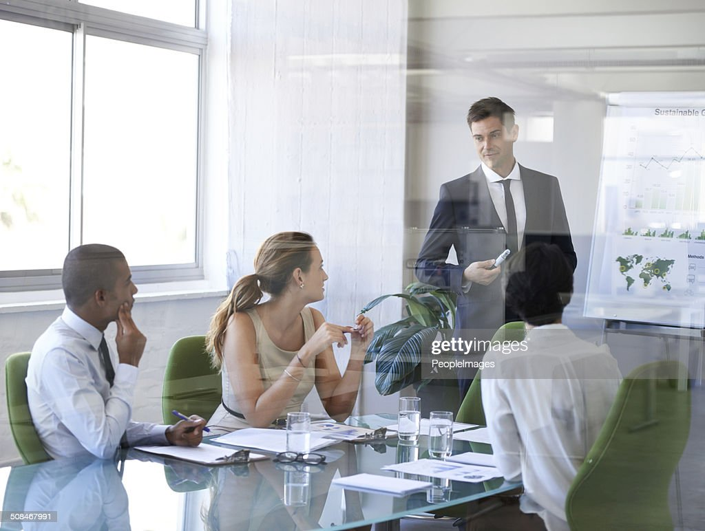 That looks like an extremely productive meeting : Stockfoto