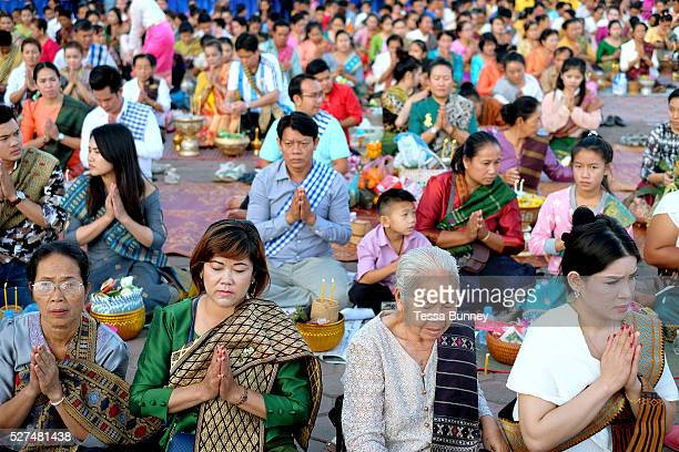 That Luang festival Vientiane Lao PDR Vientiane's most important Theravada Buddhist festival Boun That Luang is held for three days during the full...