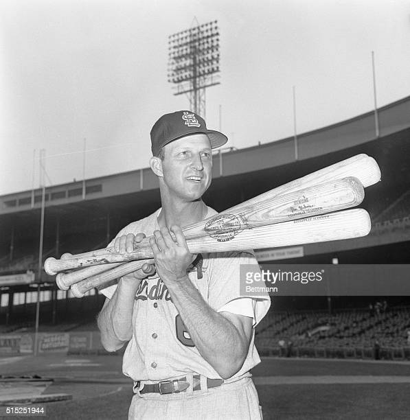 That Man Stan New York New York Stan Musial goes along with the gag and lifts four bats after belting four consecutive homers at the Polo Grounds The...