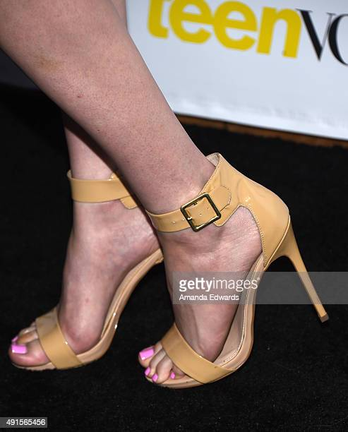 That Poppy shoe detail arrives at Teen Vogue's 13th Annual Young Hollywood Issue Launch Party on October 2 2015 in Los Angeles California
