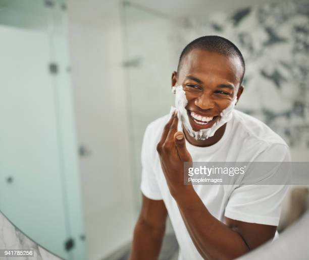 that super close shave for super soft skin - beard stock pictures, royalty-free photos & images