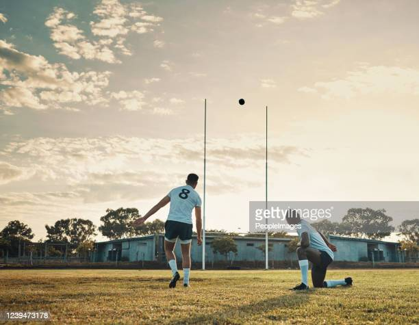 that was a master kick! - rugby stock pictures, royalty-free photos & images