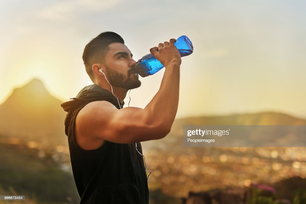 That work out made me thirsty : Stock Photo