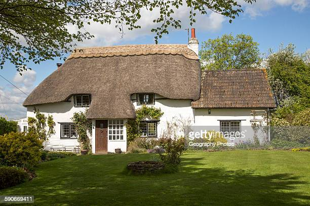 Thatched attractive country cottage Cherhill Wiltshire England UK