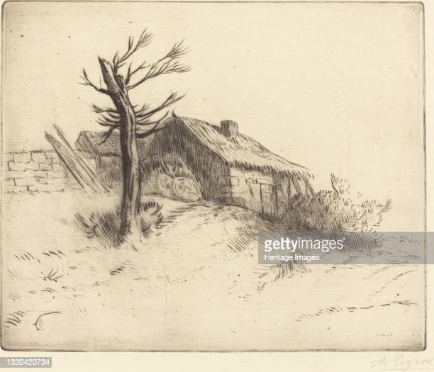 Thatched Cottage . Artist Alphonse Legros.