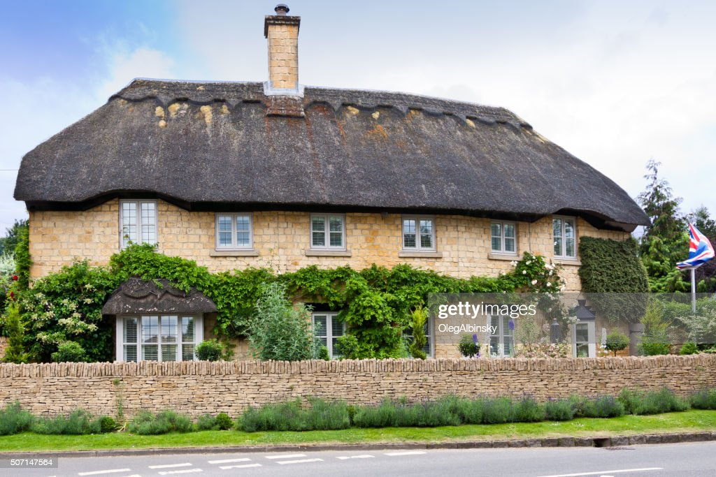 Thatched Cottage In Chipping Campden Cotswold England United Kingdom Stock Photo