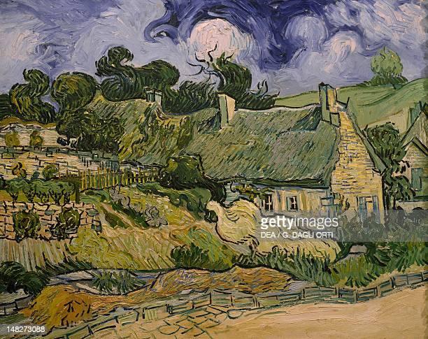 Thatched cottages at Cordeville by Vincent van Gogh Paris Musée D'Orsay