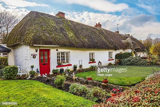 Thatched cottages, shops and restaurants