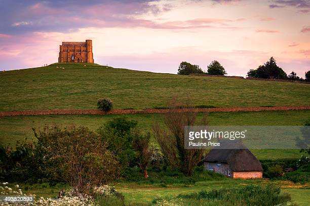 Thatched House and St Catherine's Chapel, Abbotsbury, Dorset, England.