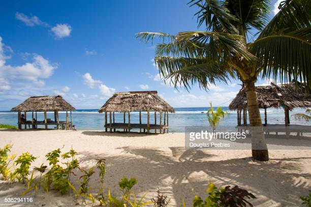 Thatched Pavilions on Beach