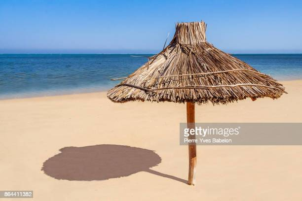 Thatched umbrella on the beach