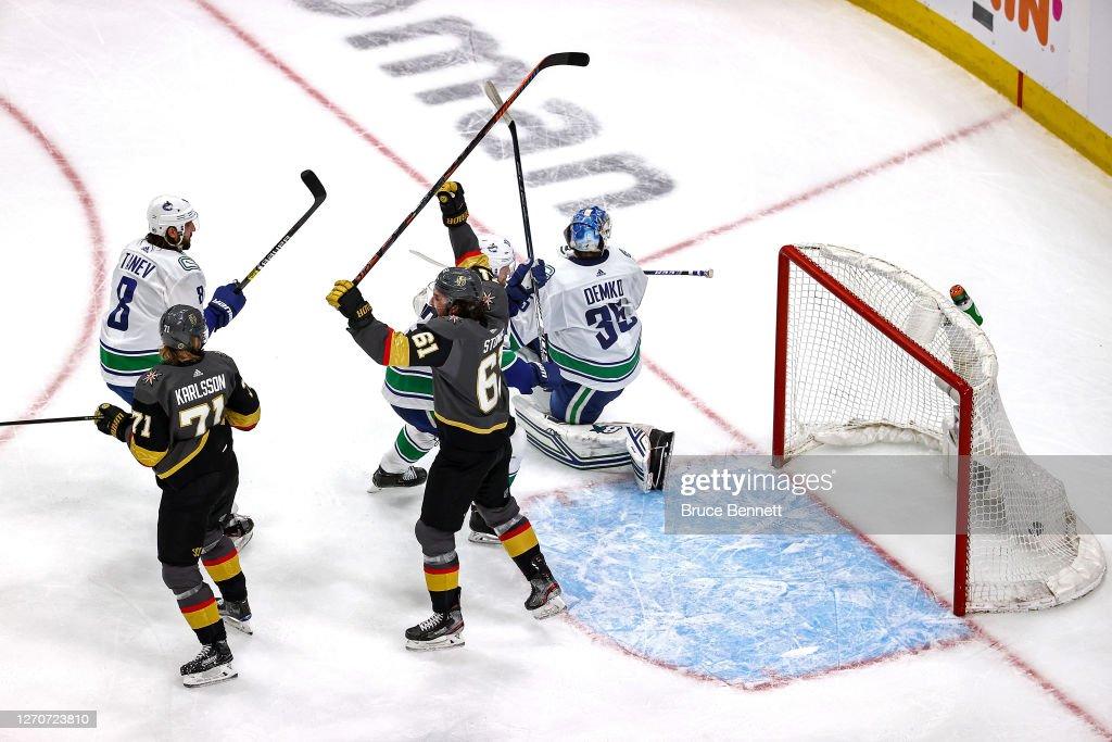 Vancouver Canucks v Vegas Golden Knights - Game Seven : News Photo