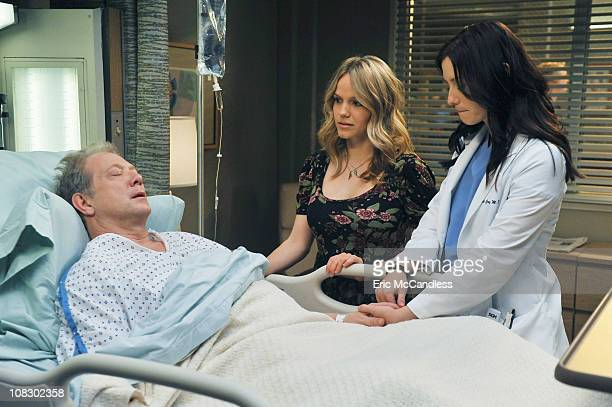 S ANATOMY 'PYT ' Thatcher Grey Meredith and Lexie's father returns to Seattle Grace with stomach pains and a new twentysomething tattooed girlfriend...