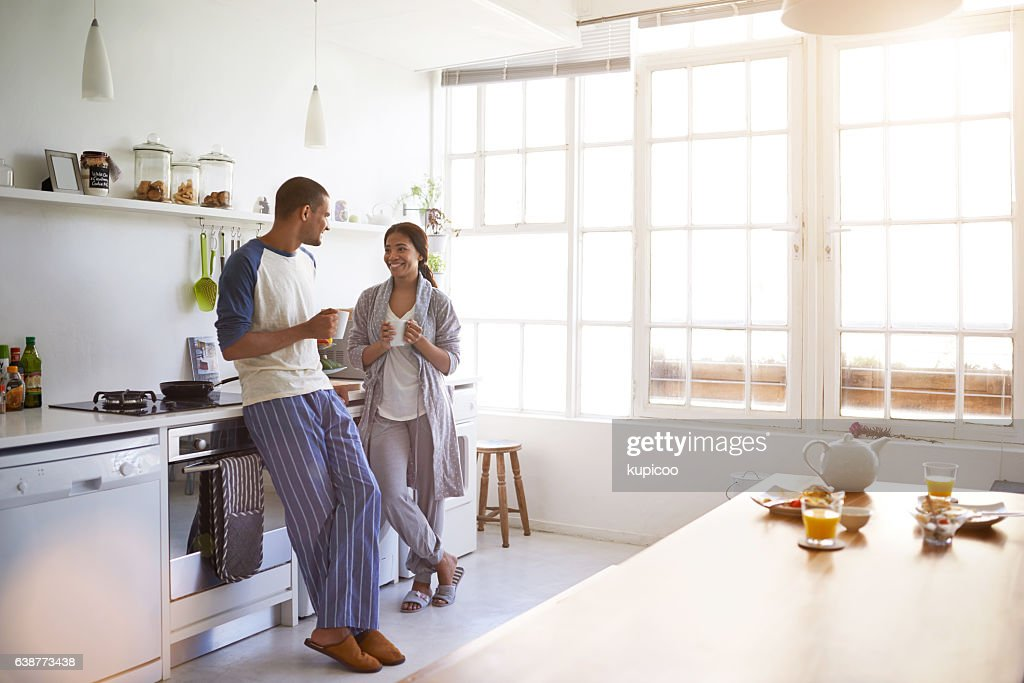 That's a fine cup of coffee : Stock Photo