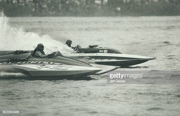 That's fast Some of the fastest hydroplane racers in the world roared across Lake Ontario yesterday Blazing at speeds of up to 280 kilometres an hour...