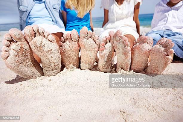 So sehen die Füße sollten Strand