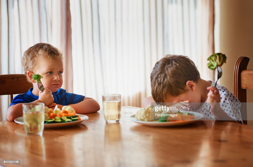 That's it, we're going on a hunger strike : Stock Photo