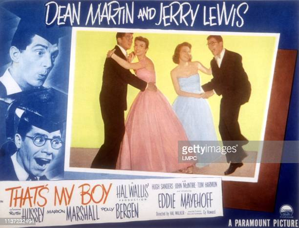 That's My Boy poster US lobbycard insert from left Dean Martin Polly Bergen Marion Marshall Jerry Lewis 1951