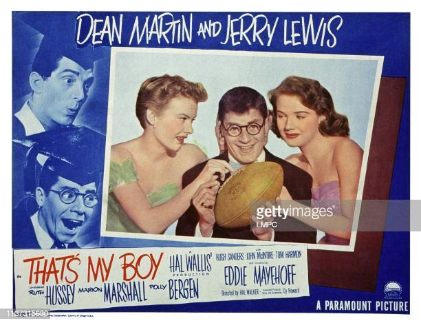 That's My Boy US lobbycard from left Marion Marshall Jerry Lewis Polly Bergen 1951