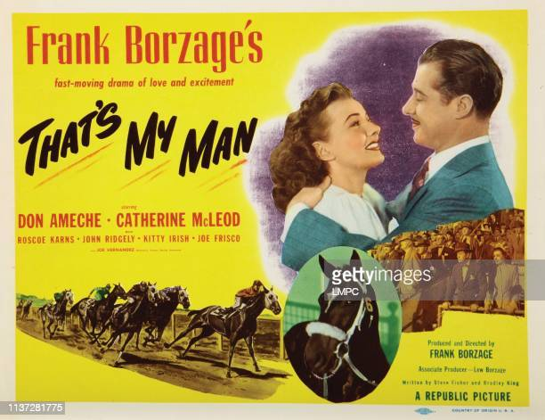 That's My Man lobbycard from left Catherine McLeod Don Ameche 1947
