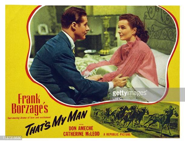 That's My Man US lobbycard from left Don Ameche Catherine McLeod 1947