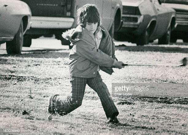 FEB 9 1975 FEB 10 1975 That's One A wouldbe Johnny Miller decided Sunday's weather was good enough to go the City Park and try out a new set of golf...