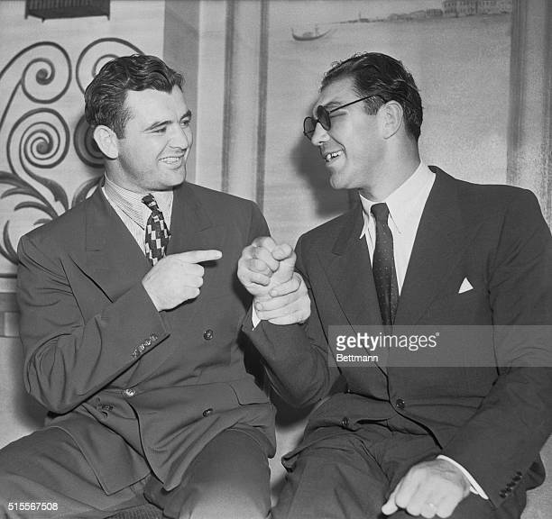 That's Right Max Although they have a fistic date in September that doesn't prevent James J Braddock world's heavyweight champion and Max Schmeling...