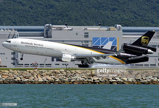 That's what I call a smoky touchdown! UPS062 from Louisville via Anchorage leaves some rubber on 07L. Summer spotting in Hong Kong is just awesome if...