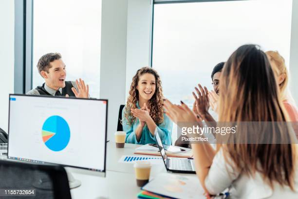 that's what you call a good meeting! - employee appreciation stock pictures, royalty-free photos & images