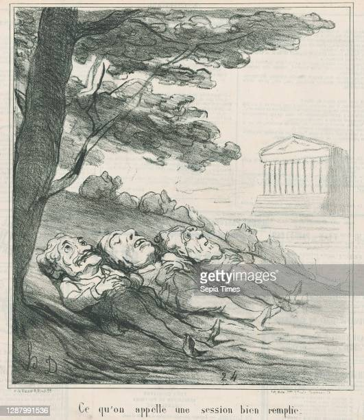 That's what you call a loaded session, from 'News of the day,' published in Le Charivari, May 25 'News of the day' , Honore Daumier , Lithograph on...