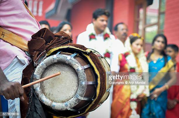Thavil Musical Instruments for a Traditional South Indian Wedding